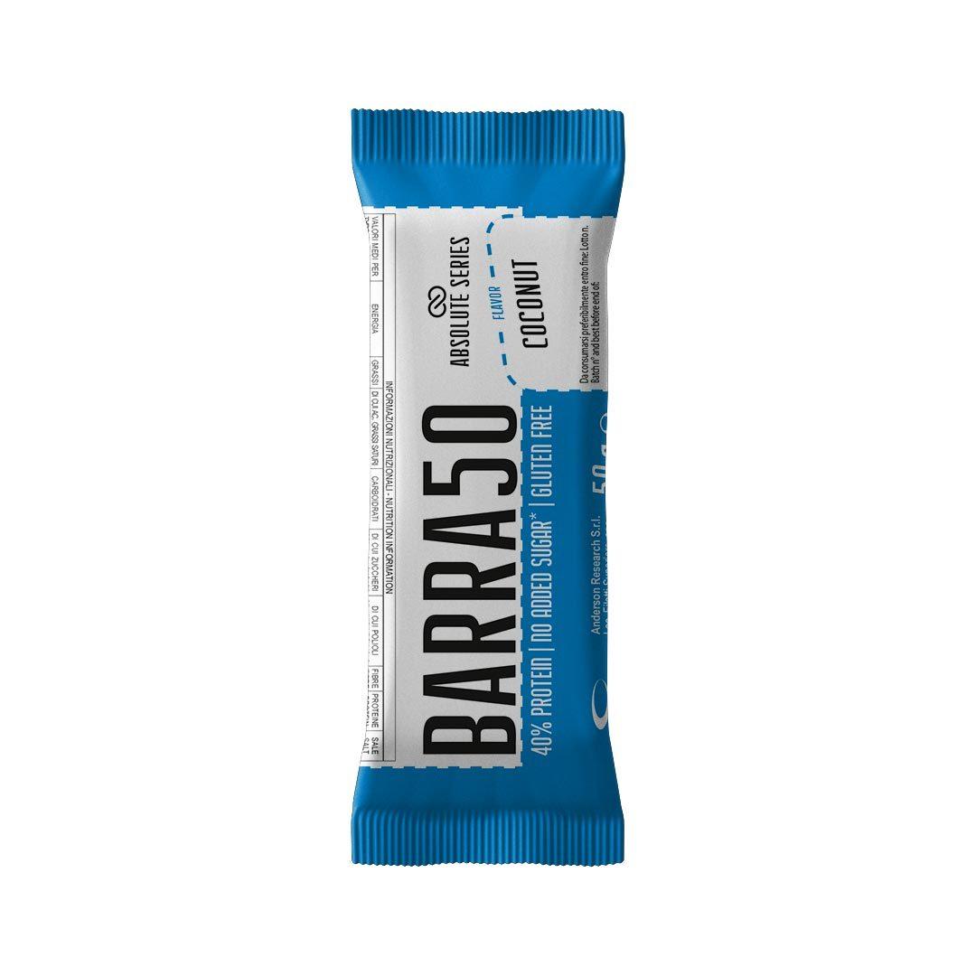 Barrette proteiche - BARRA50 - Gusto Coconut-Cocco
