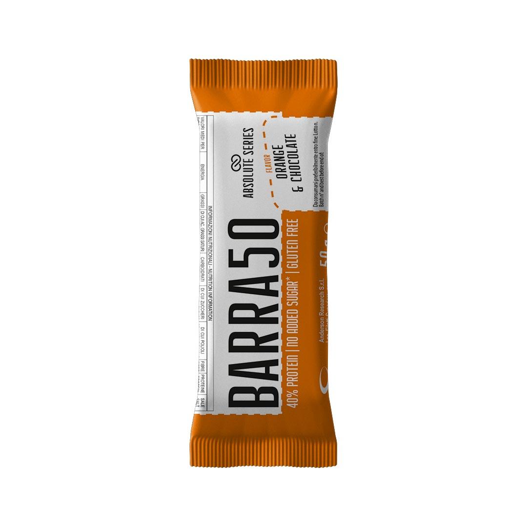 Barrette proteiche - BARRA50 - Gusto Hazelnut-Orange & Chocolate - Arancia e Cioccolato