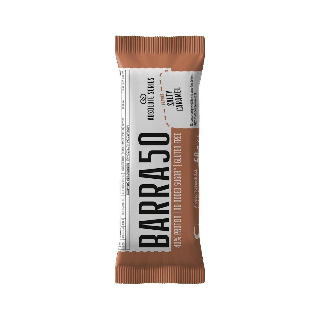 Barrette proteiche - BARRA50 - Gusto Salty Caramel-Caramello salato